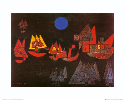 Schiffe im Dunkeln, c.1927-Paul Klee-Art Print