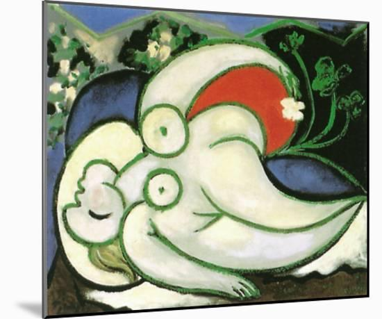 Schlafende Frau-Pablo Picasso-Mounted Art Print