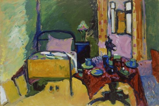 Schlafzimmer in Der Ainmillerstrasse 36, 1909--Giclee Print