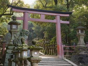 Entrance, Kasuga-Taisha Shrine, Nara, Kansai, Honshu, Japan by Schlenker Jochen