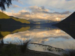 Lake Rotoroa and Travers Range, Nelson Lakes National Park, South Island, New Zealand, Pacific by Schlenker Jochen