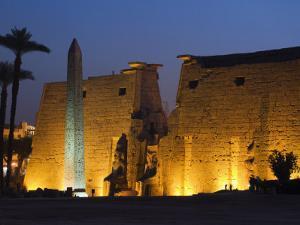 Luxor Temple, Luxor, Thebes, UNESCO World Heritage Site, Egypt, North Africa, Africa by Schlenker Jochen