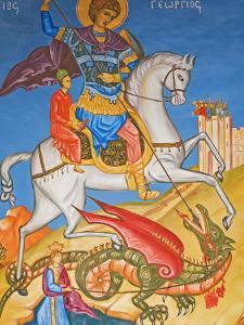 Painting in St. George's Church, Madaba, Jordan, Middle East by Schlenker Jochen