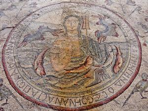 Personification of the Sea Floor Mosaic, Church of the Apostles, Madaba, Jordan, Middle East by Schlenker Jochen