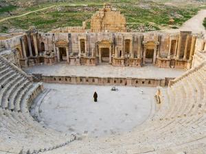 South Theatre, Jerash, Roman City of the Decapolis, Jordan, Middle East by Schlenker Jochen
