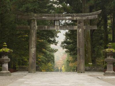 Stone Torii, Tosho-Gu Shrine, Nikko, Central Honshu, Japan