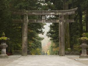 Stone Torii, Tosho-Gu Shrine, Nikko, Central Honshu, Japan by Schlenker Jochen