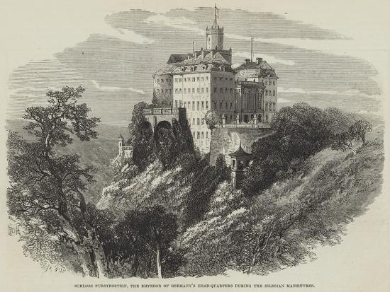 Schloss Furstenstein, the Emperor of Germany's Head-Quarters During the Silesian Manoeuvres--Giclee Print