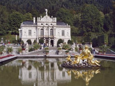 Schloss Linderhof in the Graswang Valley, Built Between 1870 and 1878 for King Ludwig II, Germany-Nigel Blythe-Photographic Print