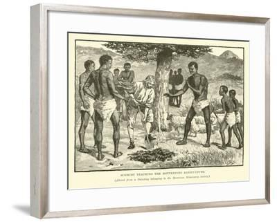 Schmidt Teaching the Hottentots Agriculture--Framed Giclee Print