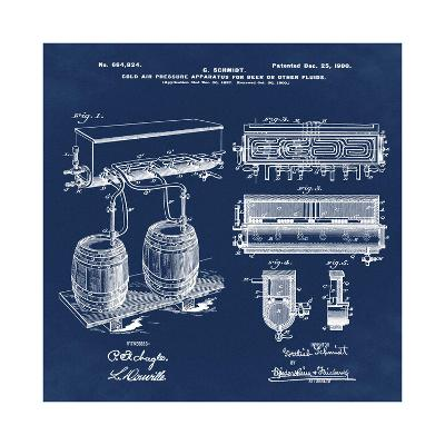Schmidts Tap 1900 Blue-Bill Cannon-Giclee Print