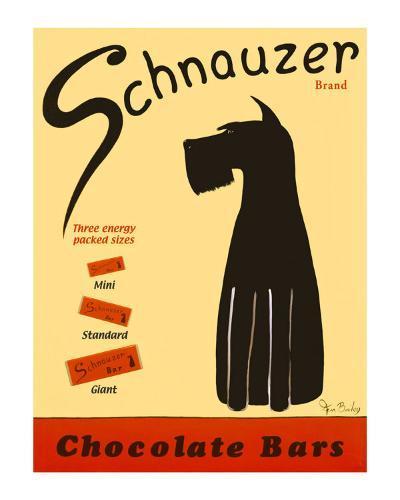 Schnauzer Bars-Ken Bailey-Collectable Print