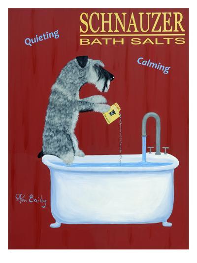 Schnauzer Bath Salts-Ken Bailey-Premium Giclee Print