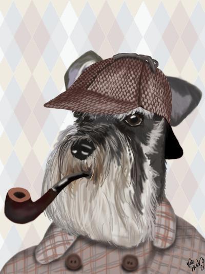 Schnauzer Sherlock-Fab Funky-Art Print