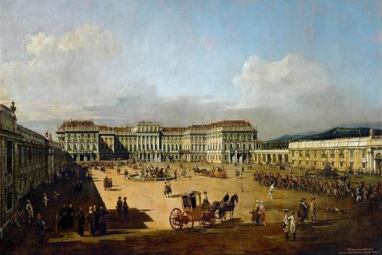 Schönbrunn Palace Viewed from the Front Side, Between 1758 and 1761-Bernardo Bellotto-Giclee Print