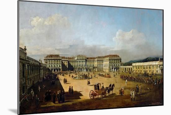 Schönbrunn Palace Viewed from the Front Side, Between 1758 and 1761-Bernardo Bellotto-Mounted Giclee Print