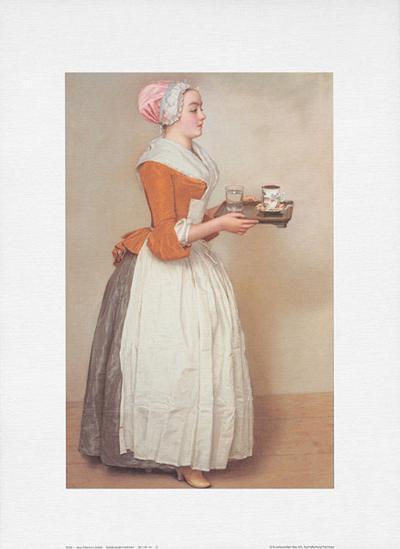 Schokoladenm?dchen-Jean-Etienne Liotard-Art Print