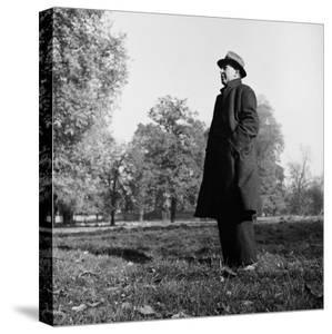 Scholar C.S. Lewis Standing in Open Field; Nr. Magdalen College, Oxford University