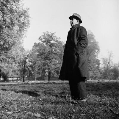 Scholar C.S. Lewis Standing in Open Field; Nr. Magdalen College, Oxford University