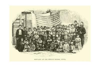 Scholars at the Mission School, Joppa--Giclee Print