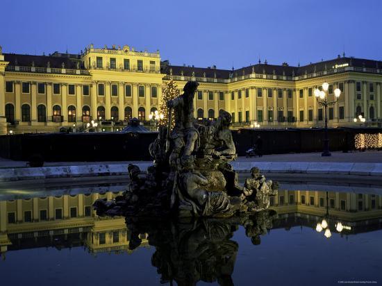 Schonbrunn Palace at Dusk, Unesco World Heritage Site, Vienna, Austria, Europe-Jean Brooks-Photographic Print