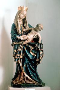Schone Madonna, Painted Statue, from the Pfarrkirche, Bad Aussee, Austria