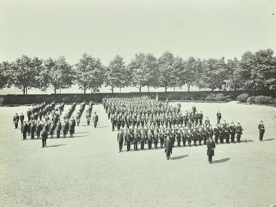 School Cadet Battalion on Parade, Hackney Downs School, London, 1911--Photographic Print