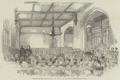 School for the Indigent Blind, Examination of the Pupils--Giclee Print