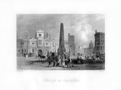 School for the Indigent Blind, Southwark, London, 19th Century-TA Prior-Giclee Print