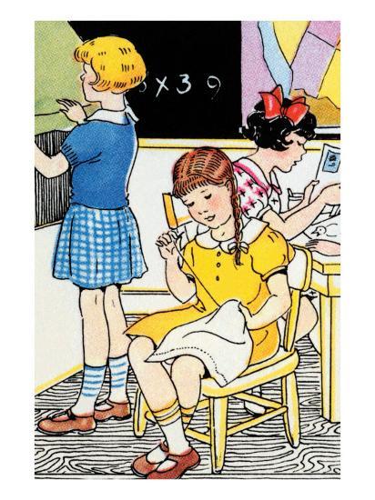 School Lessons-Julia Letheld Hahn-Art Print