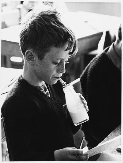 School Milk 1960s--Photographic Print