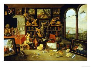 A Personification and Allegory of Sight: a Collectors Cabinet, circa 1660 by School Of Antwerp