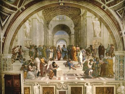 School of Athens, circa 1510-1512, One of the Murals Raphael Painted for Pope Julius II-Raphael-Giclee Print