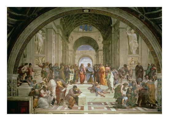 School of Athens, from the Stanza della Segnatura, 1510-11-Raphael-Giclee Print