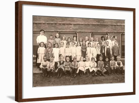 School Picture Day--Framed Art Print