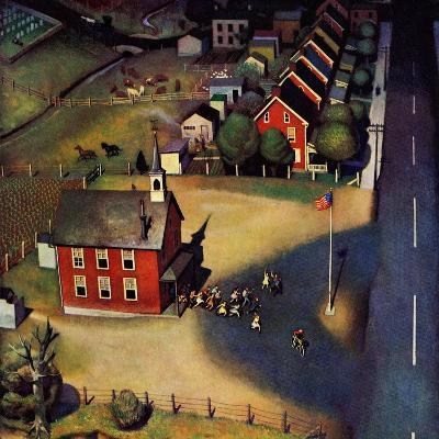 """School's Out,"" June 9, 1945-John Falter-Giclee Print"