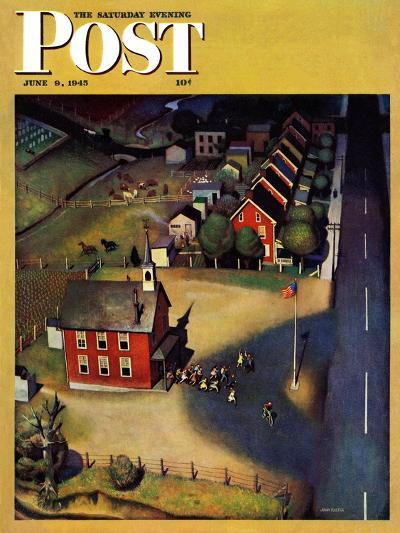 """""""School's Out,"""" Saturday Evening Post Cover, June 9, 1945-John Falter-Giclee Print"""