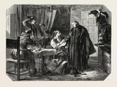 School Sardinia. the News of the Death of King Charles Albert, 1855--Giclee Print