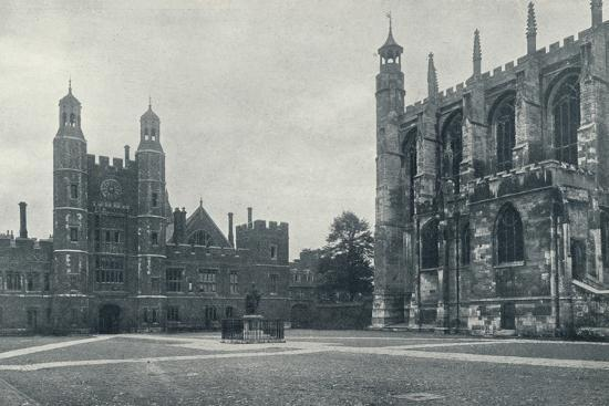'School Yard and Chapel', 1926-Unknown-Photographic Print