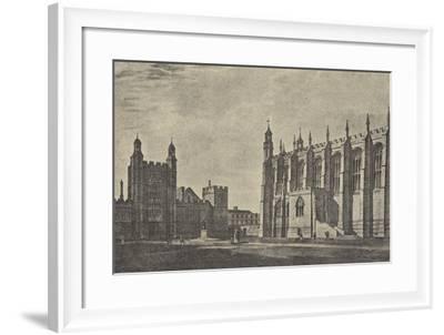 Schoolyard in 1814--Framed Giclee Print