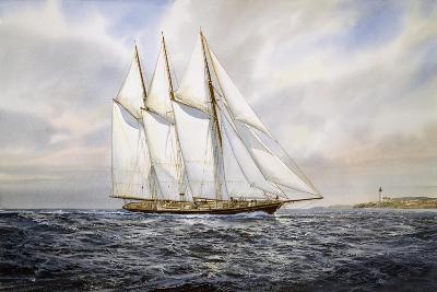 "Schooner ""Atlantic""-Jack Wemp-Giclee Print"