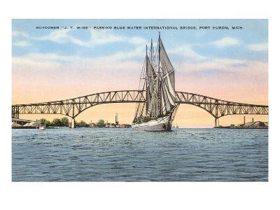Schooner, Bridge, Port Huron, Michigan--Art Print