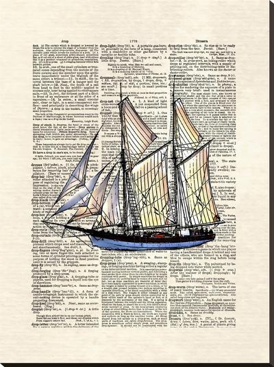 Schooner-Matt Dinniman-Stretched Canvas Print