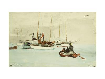 Schooners at Anchor, Key West-Winslow Homer-Giclee Print