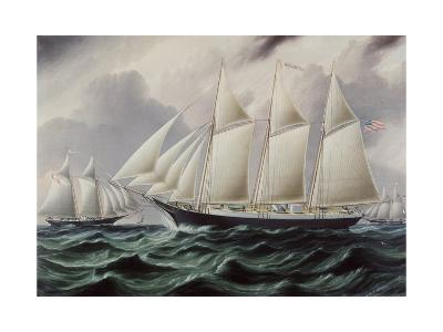 Schooners Nellie and Carrie 1875-James E^ Buttersworth-Giclee Print