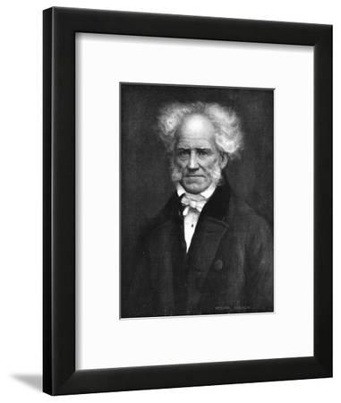 'Schopenhauer, the German philosopher', c1911, (1911)-Arthur Trevor Haddon-Framed Giclee Print