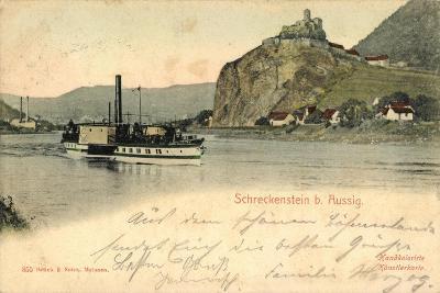 Schreckenstein Bei Aussig, Dampfer, Fabrik--Giclee Print
