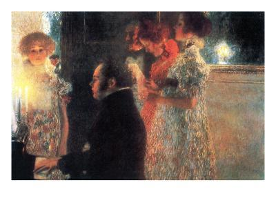 Schubert at the Piano-Gustav Klimt-Art Print