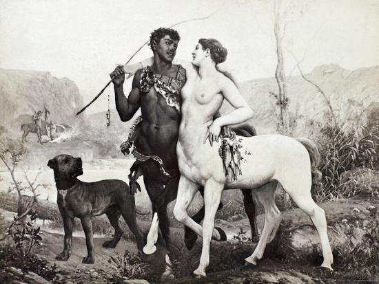 Schutzenberger: Centaurs-Louis Frederic Schutzenberger-Giclee Print