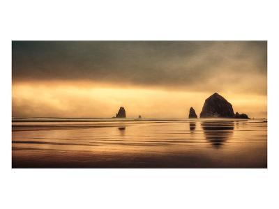Schwartz - Haystack Sunset-Don Schwartz-Premium Giclee Print